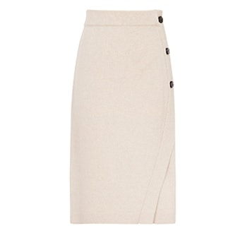 Alice Knitted Button-Detail Skirt