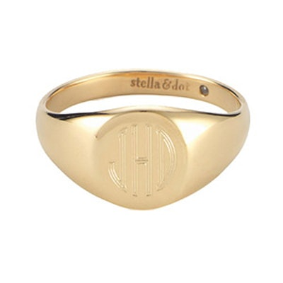 Signature Engravable Signet Ring