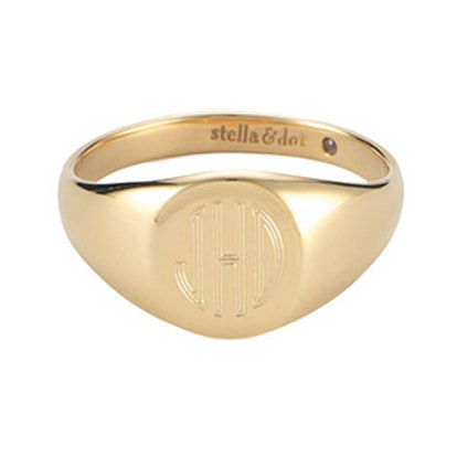 Signature Engravable Signet Ring