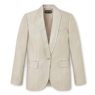 Shiny Viscose Oversized Jacket