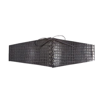 Lace Up Crocodile Design Corset Belt