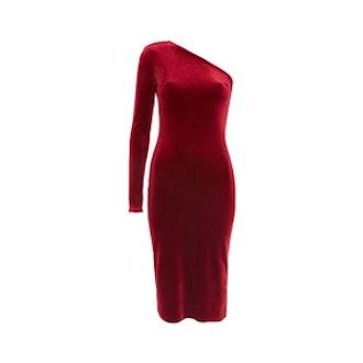 One Shoulder Midi Dress