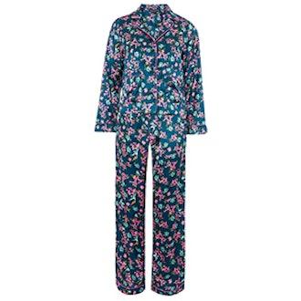 Satin Bird Print Pyjama Set