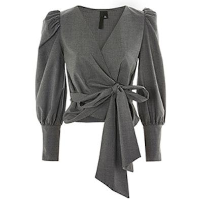 Wrap Long Sleeve Blouse