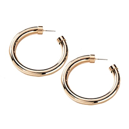 Chunky Hollow Hoop Earring