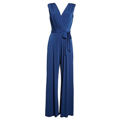 Faux Wrap Jersey Jumpsuit