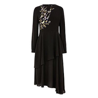 Floral Bird Midi Dress