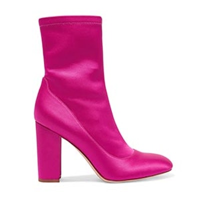 Calexa Stretch-Satin Sock Boots