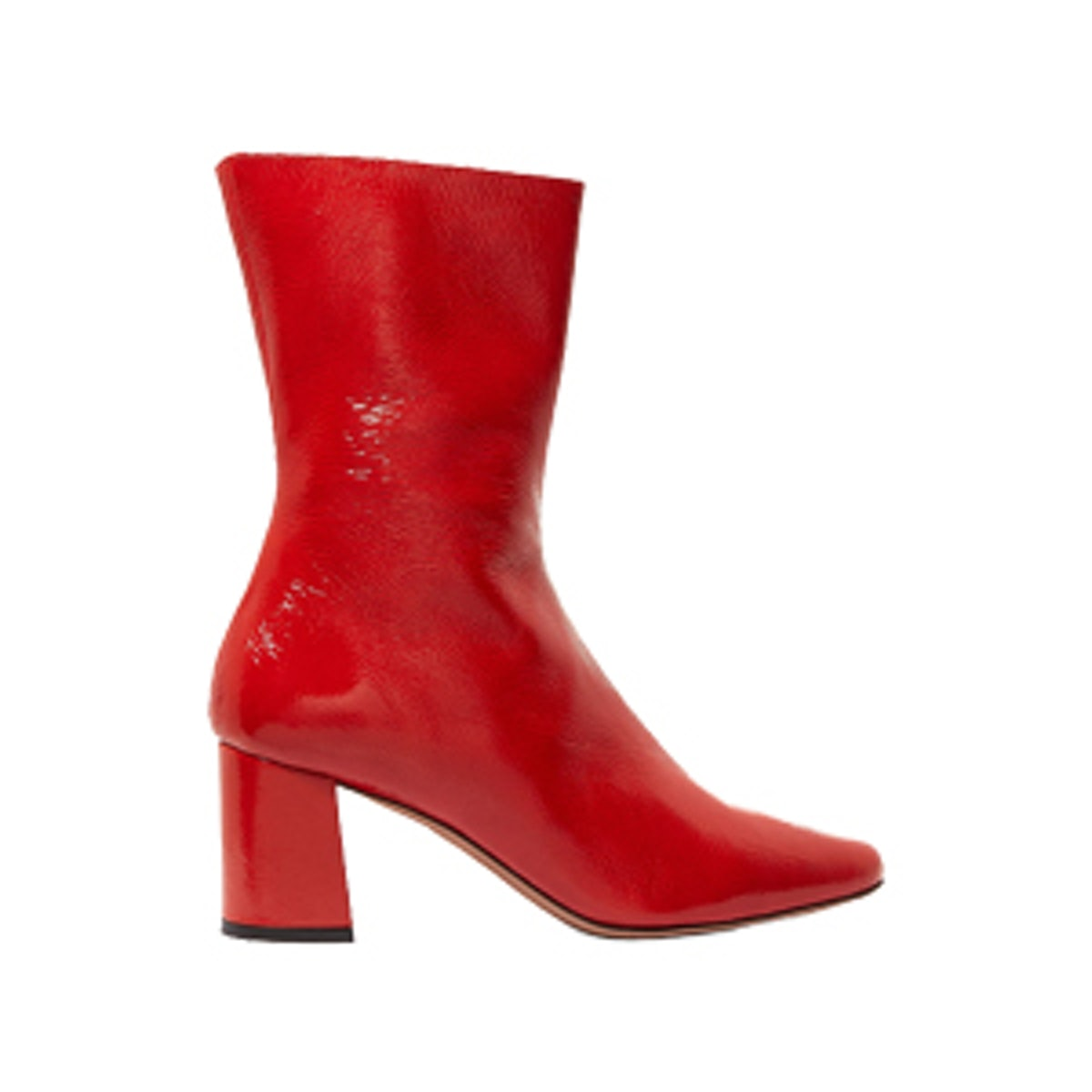 Mira Patent Textured-Leather Ankle Boots
