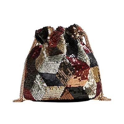 Sequinned Mini Bucket Bag