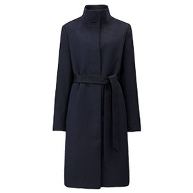 Cashmere Blended Stand Collar Coat
