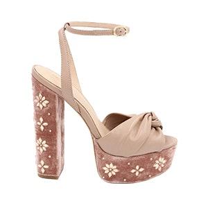 Claudette Crystal-Embellished Platform Sandals