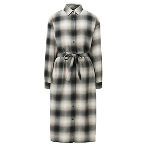 Flannel Checked Shirt Dress