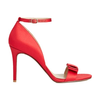 Louise Satin Bow Heeled Sandals