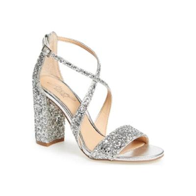 Cook Block Heel Glitter Sandal