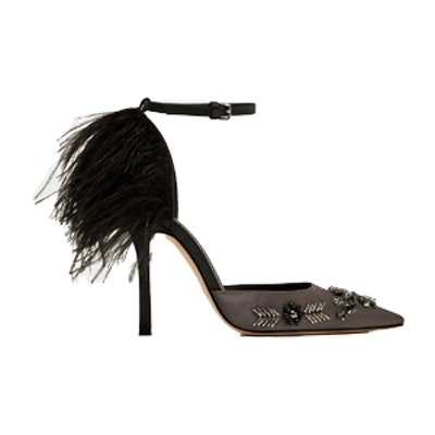 Court Shoes With Embroidered Feathers