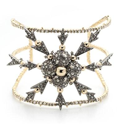 Crystal Encrusted Snowflake Cuff Bracelet