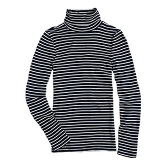 Perfect-Fit Turtleneck in Stripe