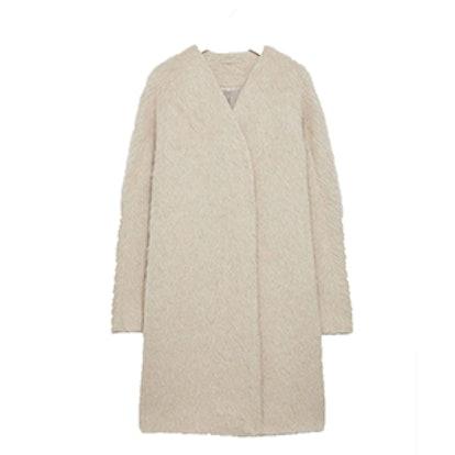 Collarless Cocoon Coat