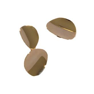 Blaisot Gold Asymmetrical Earrings