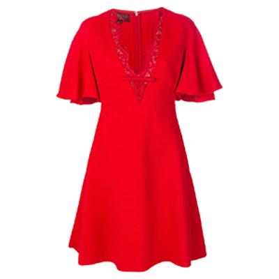 Dress With Scalloped Lace Neckline