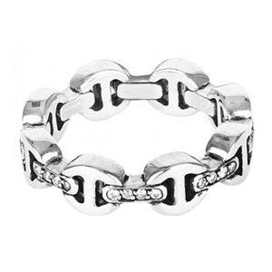 Dame Tri Link Diamond Ring