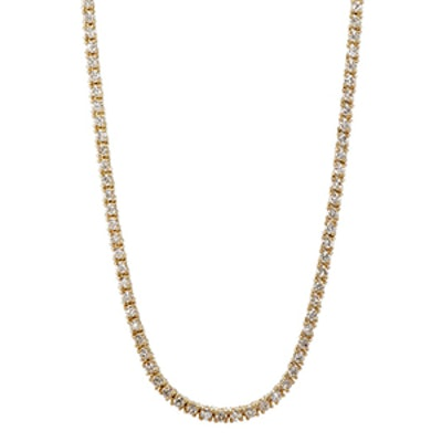 White Diamond Tennis Necklace