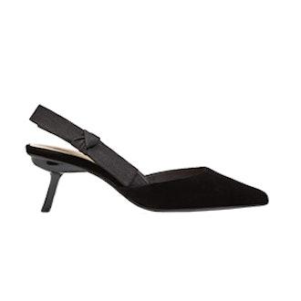 Velvet Slingback Shoes