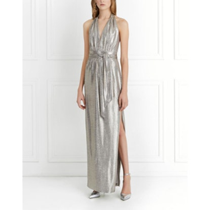 Charlize Metallic Jersey Gown