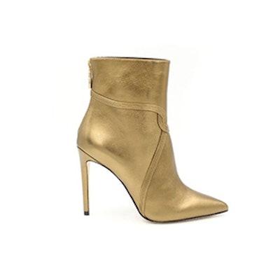 Liana Metallic Leather Stiletto Ankle Boots