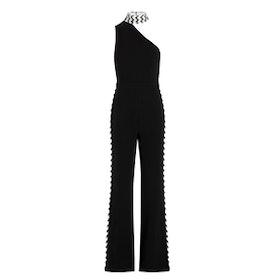 Fletcher Chevron Embroidered Stretch-Crepe Jumpsuit