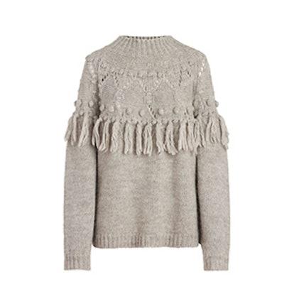 Shirley Fringe-Detail Knit Sweater