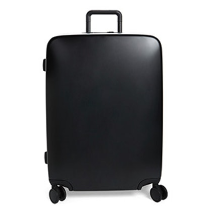 28 Check Suitcase — Glossy Black
