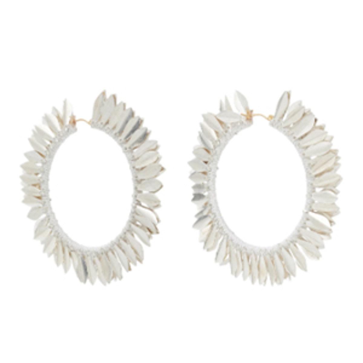 Metal Petal Hoop Earrings