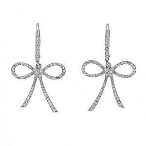 18K White Gold & Diamond Earrings