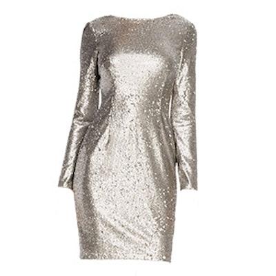 Long-Sleeve Sequin Sheath Dress