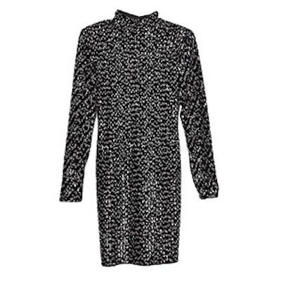 Sequinned Velvet Dress