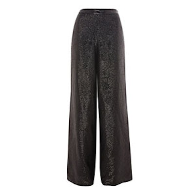 Premium Sequin Embellished Wide Leg Trousers