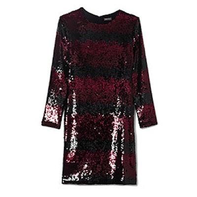 Sequin Ombré-Striped Dress