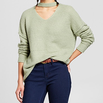 Oversized Choker Neck Sweater