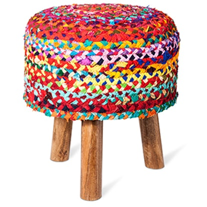 Woven Tripod Accent Stool