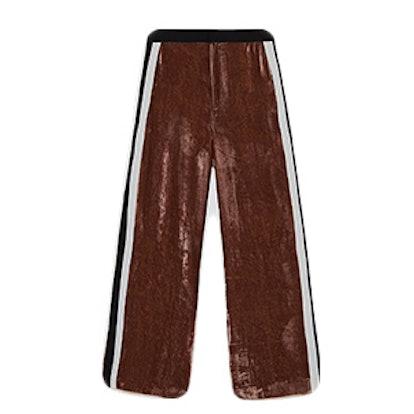 Velvet Trousers With Stripes