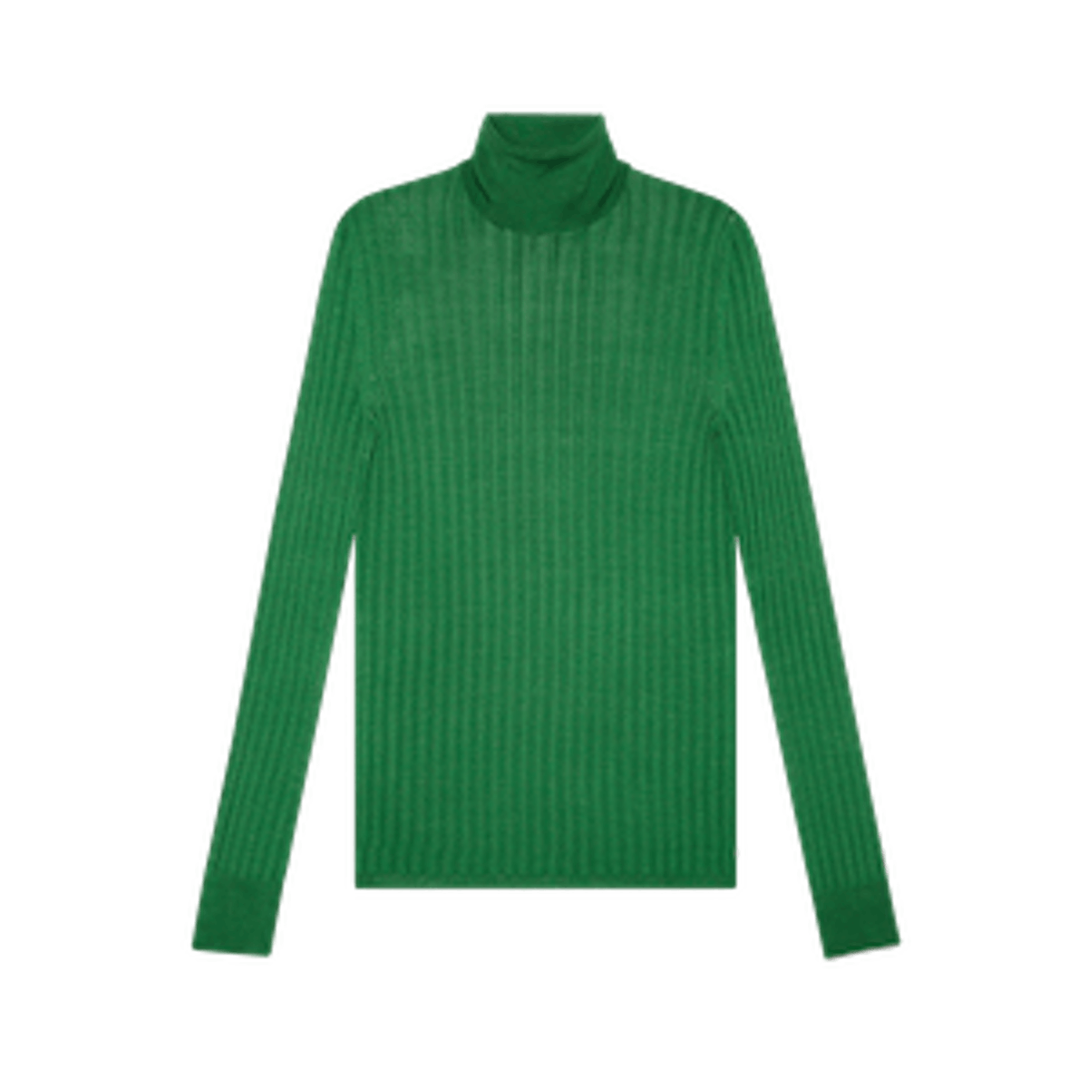 Fine Silk Turtleneck Knitted Top