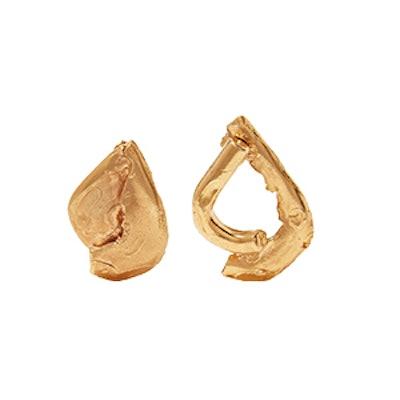 Alighieri Warrior Gold-Plated Earrings