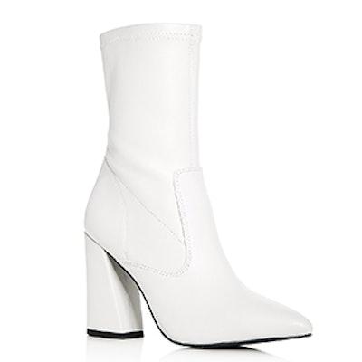 Galla Leather High Heel Booties