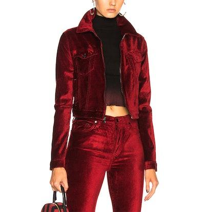 Velvet Crop Utility Jacket
