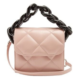 Oversized Curb-Chain Quilted Leather Shoulder Bag