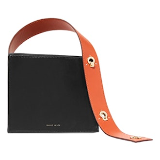 Zoe Two-Tone Leather Tote