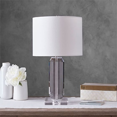 BROOKLYN FACETED-CRYSTAL BEDSIDE LAMP