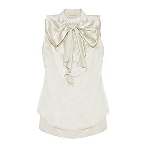 Bianca Pussy-Bow Silk Blouse